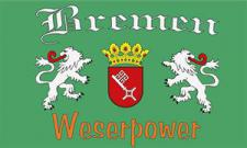 Flagge Fahne Bremen Weserpower II 90 x 150 cm