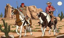 Flagge Fahne Cowboy & Indianer 90 x 150 cm