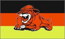 Flagge Fahne Deutschland Bulldogge 90 x 150 cm