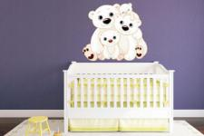 Wandtattoo Eisbären Familie