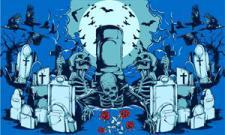 Flagge Fahne Halloween Friedhof 90 x 150 cm