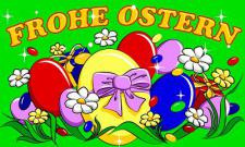 Flagge Fahne Frohe Ostern Eier 90 x 150 cm