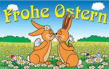 Flagge Fahne Frohe Ostern V 90 x 150 cm