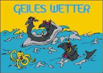Flagge Fahne Geiles Wetter 90 x 150 cm
