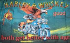 Flagge Fahne Harley & Whisky 90 x 150 cm