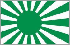 Flagge Fahne Japan Kriegsflagge grün 90 x 150 cm