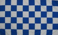 Flagge Fahne Karoflagge blau weiß 90 x 150 cm
