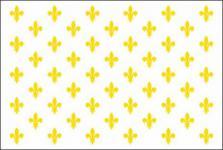 Flagge Fahne Frankr. Lilienbanner weiß 90 x 150 cm