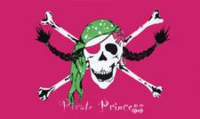 Flagge Fahne Piraten Prinzessin 90 x 150 cm