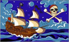 Flagge Fahne Piratenschiff 90 x 150 cm