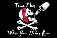 Flagge Fahne Pirat the time flies ... 90 x 150 cm