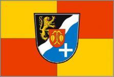 Flagge Fahne Rhein - Pfalz - Kreis 90 x 150 cm