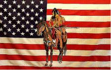Flagge Fahne USA Indianer Pferd III 90 x 150 cm