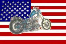 Flagge Fahne USA mit Motorrad 90 x 150 cm