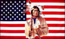 Flagge Fahne USA Indianer 90 x 150 cm