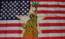 Flagge Fahne USA Liberty Mariuhana 90 x 150 cm