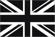 Flagge Fahne Grossbritannien schwarz 90 x 150 cm