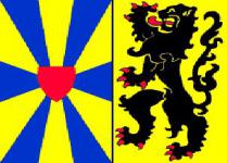 Flagge Fahne Westflandern (inoff.) 90 x 150 cm