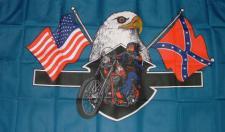 Flagge Fahne American Biker 90 x 150 cm