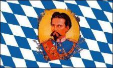 Flagge Fahne Bayern König Ludwig 90 x 150 cm