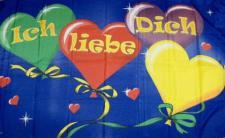 Flagge Fahne Ich liebe Dich 90 x 150 cm