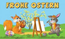 Flagge Fahne Frohe Ostern 9 90 x 150 cm