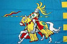 Flagge Fahne Ritter blau 90 x 150 cm