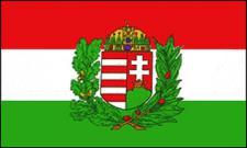 Flagge Fahne Ungarn mit Wappen 90 x 150 cm