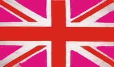 Flagge Fahne Grossbritannien rosa 90 x 150 cm