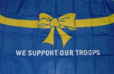 Flagge Fahne We support our troops 90 x 150 cm