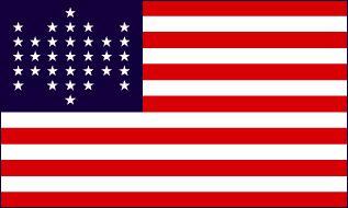 Flagge Fahne USA 33 Sterne 90 x 150 cm - Vorschau