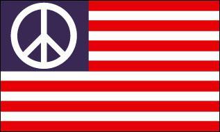 Flagge Fahne USA Peace 90 x 150 cm