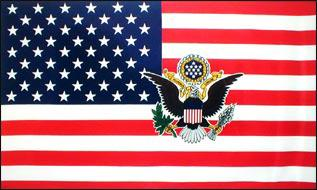 Flagge Fahne USA mit Präsident Seal 90 x 150 cm