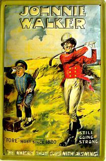 Johnnie Walker Whisky Blechschild