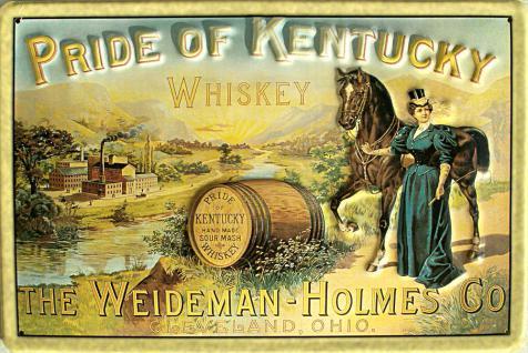 Pride of Kentucky Whiskey Blechschild - Vorschau