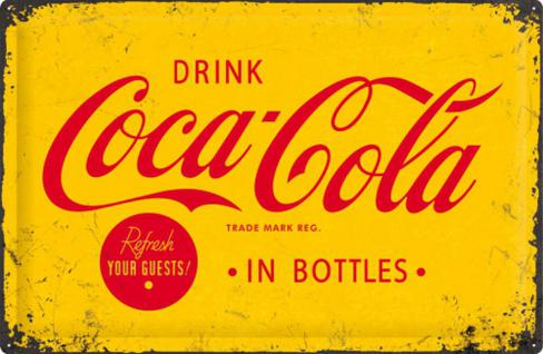 Coca-Cola Yellow Logo Blechschild