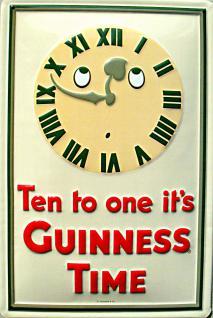 Guinness Ten to one Blechschild
