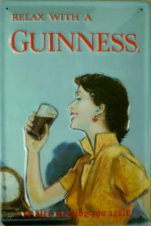Guinness - Relax with the Guinness Blechschild