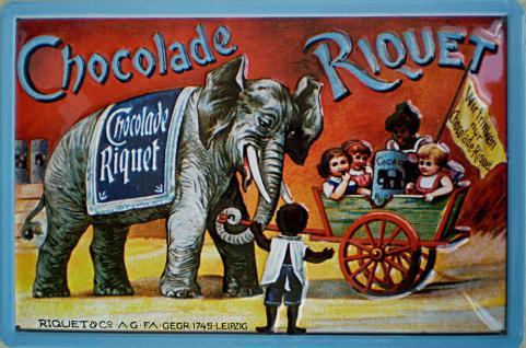 Riquet - Chocolade Blechschild - Vorschau