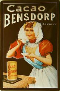 Bensdorp Cacao Amsterdam Blechschild