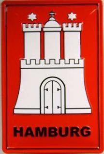 Hamburg Wappen Blechschild