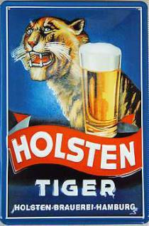 Holsten Bier Tiger Blechschild