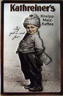 Kathreiner's Kneipp-Malz-Kaffee Junge Blechschild - Vorschau