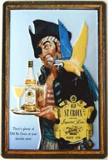 Old St.Croix Imported Rum Blechschild