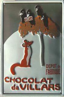 Chocolat de Villars Blechschild - Vorschau