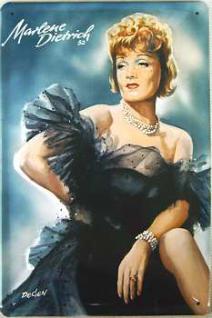 Marlene Dietrich 52 Blechschild