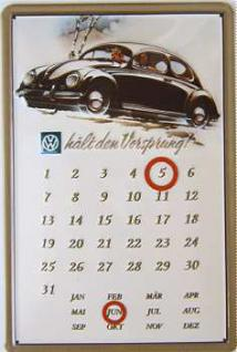 VW hält den Vorsprung Kalender Blechschild - Vorschau