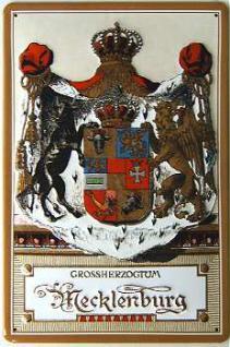 Mecklenburg Großherzogtum Blechschild