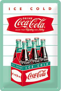 Coca-Cola - Diner Sixpack Blechschild