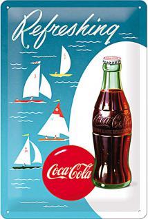 Coca-Cola Sailing Boats Blechschild